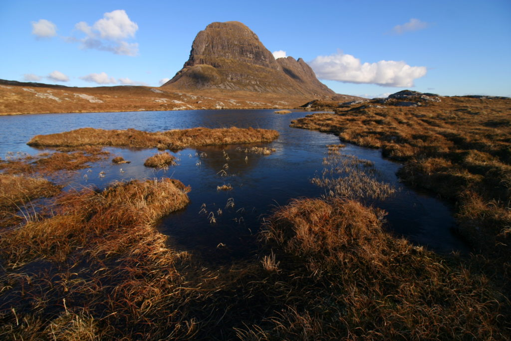 Suilven from the west. Photo (c) Chris Goodman