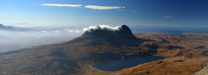 Suilven in the cnoc and lochan landscape of Assynt. Photo © Chris Goodman