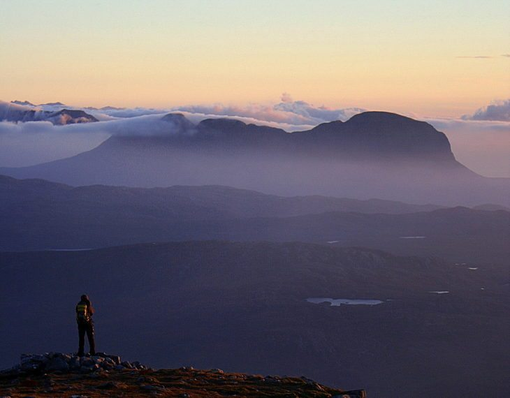 Looking across the Assynt landscape and feeling closer to the earth. Photo © Chris Goodman
