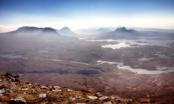 The view from Suilven. Photo © Chris Puddephatt