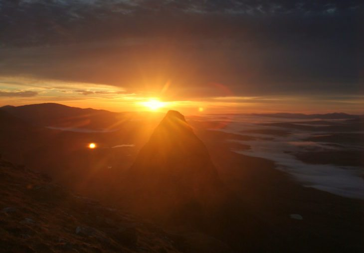 Suilven at sunrise. Photo © Chris Goodman