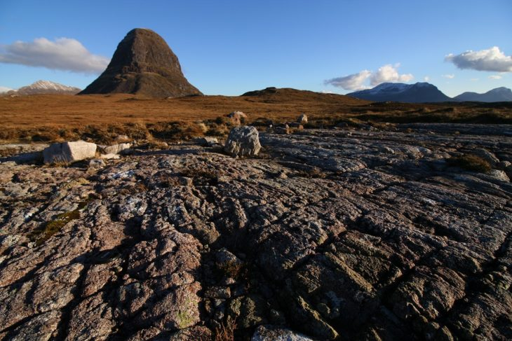 What's left of Suilven after a billion years. Photo © Chris Goodman