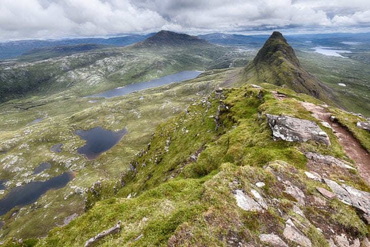 The view along the ridge of Suilven. Photo © Chris Puddephatt.