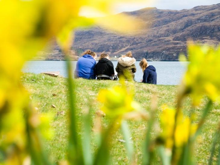 Writing spells on Isle Martin © Katrina Martin/Scottish Wildlife Trust