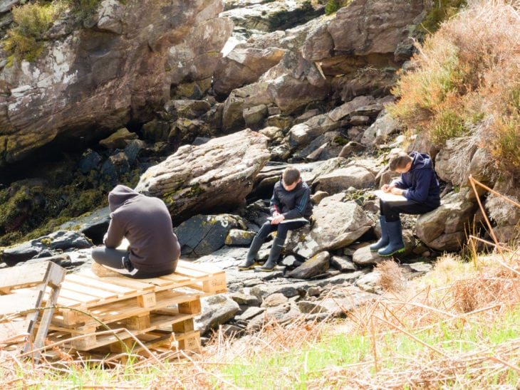 Mission: Explore like a Victorian. Naming nature discoveries based on their characteristics © Katrina Martin/Scottish Wildlife Trust