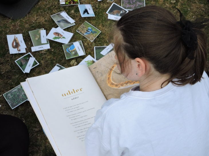 Reading spells from The Lost Words book. © Vickii Campen/Scottish Wildlife Trust