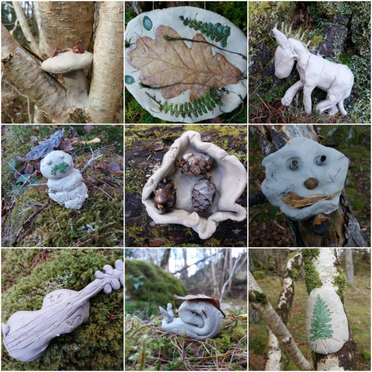 P7 clay creations. © Katrina Martin/Scottish Wildlife Trust