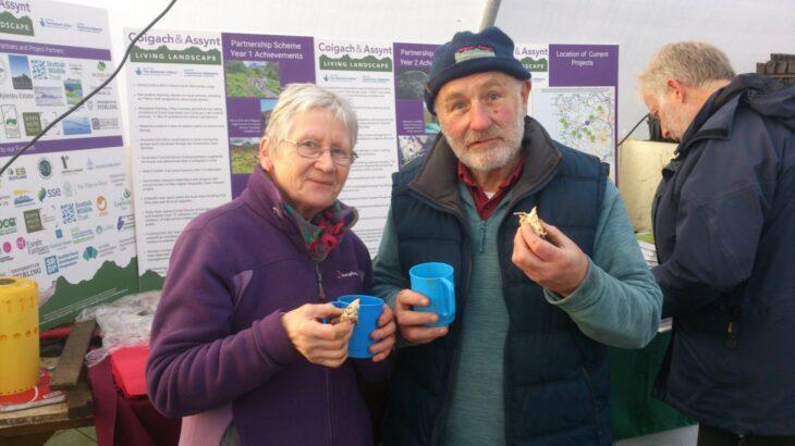 Got to keep those volunteers fuelled up! © Laura Traynor/Scottish Wildlife Trust
